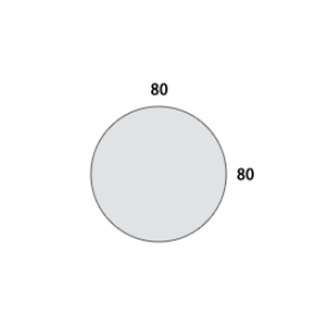 MOSSCHILDERIJ ROND 80 cm Ø