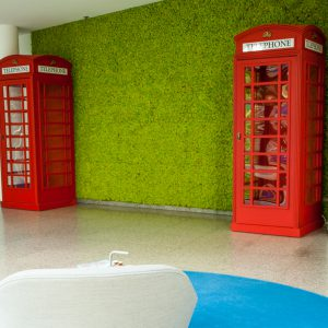 Moswand telefooncel