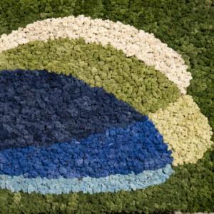 Mospaneel logo in diverse kleuren rendiermos